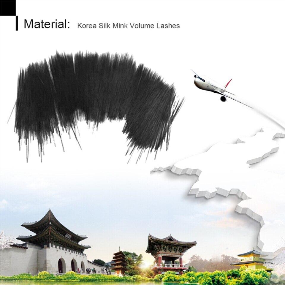 Thinkshow 8-15mm 12 linii / zasobnika Rosja 3D Lashes Materiały - Makijaż - Zdjęcie 3