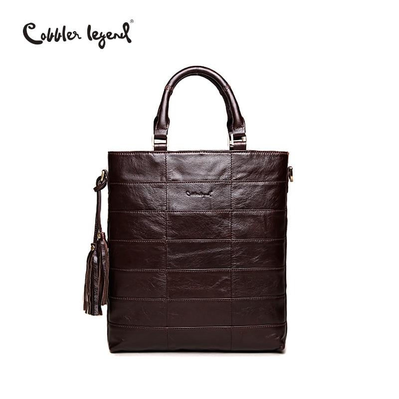 Cobbler Legend Brand Tassel Tote Bag Genuine Leather Handbag Women Shoulder Bag Female Real Leather Messenger