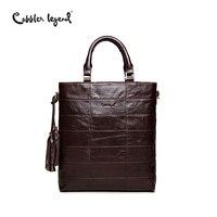 Cobbler Legend Brand Tassel Tote Bag Genuine Leather Handbag Women Shoulder Bag Female Real Leather Messenger Bags Tassen
