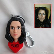 wedding Toys Personalized Custom Polymer Clay Figurine bobblehead doll pet key ring car keychain holder personalized gift