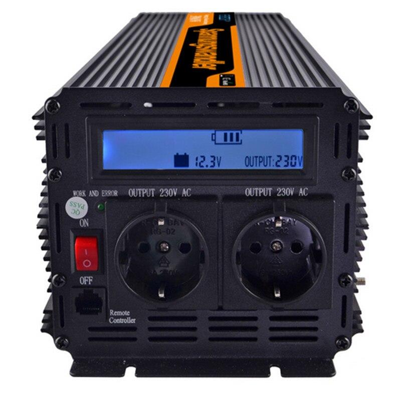 цена на EDECOA power inverter 2000w/4000 watt DC 12V AC 230V modified sine wave inverter off grid inverter with remote control free ship
