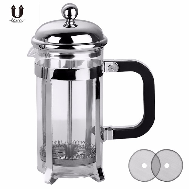 Uarter 1l Gl Pressure Pot Stainless Steel French Press Coffee Filter Household