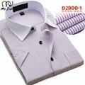 2016 летний новый мода Pure color мужские рубашки Короткий рукава мужской деловой случай рубашку Тонкий camisa 17 цвет Платья рубашки