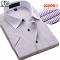2016 verão de moda de nova camisa dos homens de cor Pura camisas Curtas de manga comprida camisa casual Magro camisa do negócio do homem 17 cor do Vestido camisas