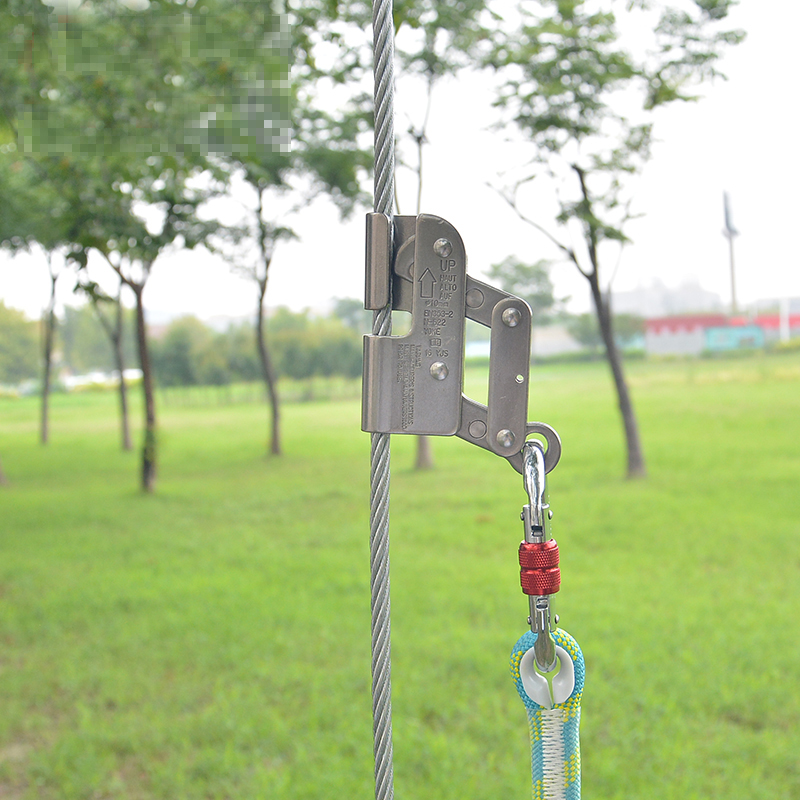 high quality Steel wire anti drop protection device Climbing anti fall protection equipment Steel wire self locking device-in Climbing Accessories from Sports & Entertainment    3