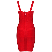 Spaghetti Strap Rayon Elastic Bandage Dress