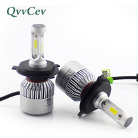 Qvvcev Cob H4 Led Auto Lamps 72W 8000LM Car Headlight Fog Light High Low Beam Light
