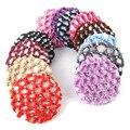 Mulheres Menina Bonita Ballet Bun Capa Baixada Rede de Cabelo Dança Patinação Crochet com Diamante 12 Cores