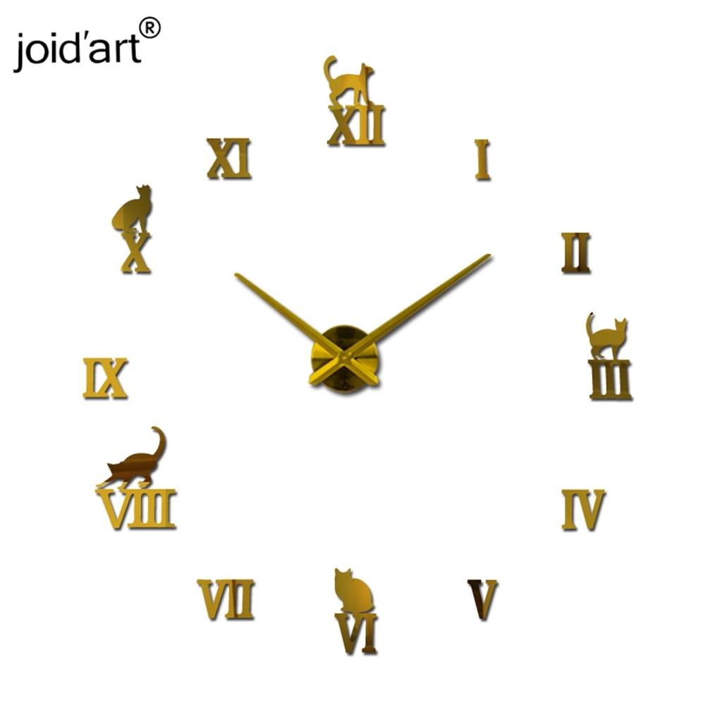 Nieuw horloge quartz wandklok rondbreinaald modern design diy acryl - Huisdecoratie