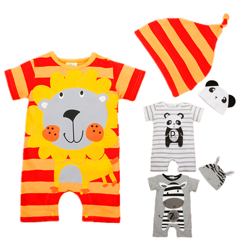 Baby Rompers 2017 Summer Baby Girl Clothing Sets Cartoon Baby Boys Clothes Newborn Baby Clothes Roupas Bebe Infant Jumpsuit mother nest 3sets lot wholesale autumn toddle girl long sleeve baby clothing one piece boys baby pajamas infant clothes rompers