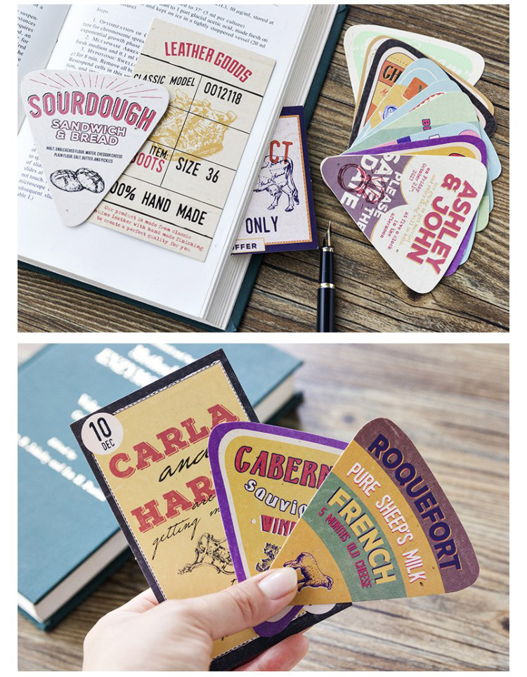 30pcs hand drawn advertising style card multi-use Scrapbooking party invitation DIY Decoration gift card message card postcard