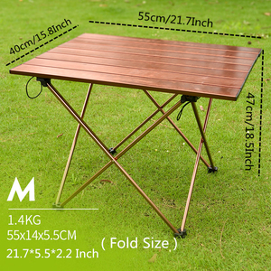 Image 3 - VILEAD Portable Folding Camping Table Aluminium Alloy Ultra light Picnic BBQ Traveling Outdoor Waterproof Foldable Durable Desk