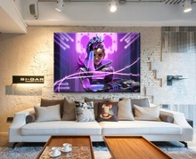 Hackers Girl Hero Painting Top-Rated Canvas Print Type Modern Artwork Home Decor Room Wall 1 Piece Overwatch Sombra Poster