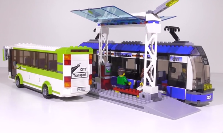 Image 4 - Blocks the Compatible Legoings City Public Transport Station Set Toys Building Bricks Bus Train Car Christmas gift for boy bith-in Blocks from Toys & Hobbies
