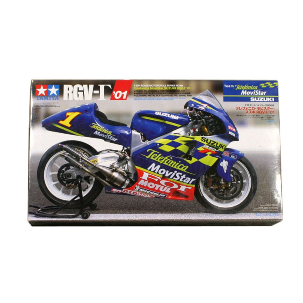 OHS Tamiya 14089 1/12 Team Telefonica MoviStar RGV 01 Scale Assembly Motorcycle Model Building Kits