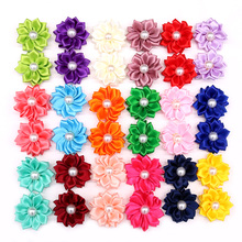 100X Cute Pet Dog Cat Hair Bows Flowers for Wedding Party Holiday Daily Accessories Grooming with Rubber Bands