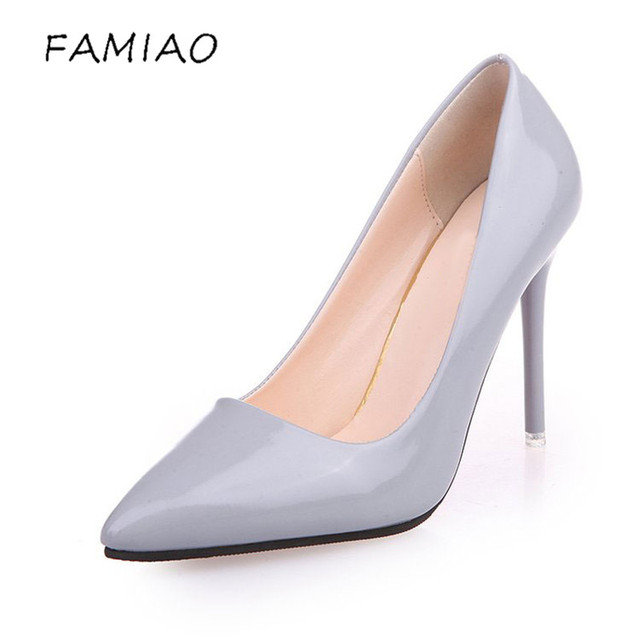 High Heels Shoes Pumps 10.5cm Black Stilettos Heels Sexy Pointed Toe White Pumps Nude Heels for Women Shoes Ladies 4
