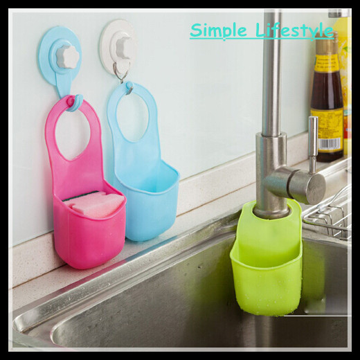 Hanging cute bubm storage bag eco-friendly silicone rubber sponge kitchen storage boxes bins soap shelf organizers container