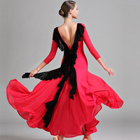 ballroom dance dress ballroom dress standard dance wear women spanish dress flamengo red modern dance costumes