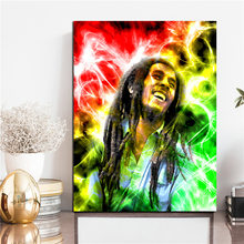 Jamaica Reggae Singer Bob Marley Canvas Painting Print Bedroom Home Decor Modern Wall Art Oil Poster Picture Framework
