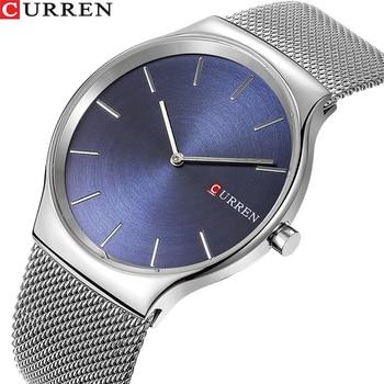 a47e59363c6c TOP lujo marca CURREN moda hombres de negocios relojes masculinos  ultrafinos reloj de cuarzo analógico deportes reloj impermeable del acero
