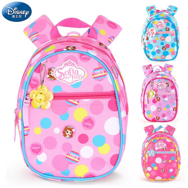 57dd792307 Disney 2018 Princess Sophia Children Backpacks kindergarten Schoolbag Kids  Backpack Children School Bags Baby Girls Backpacks