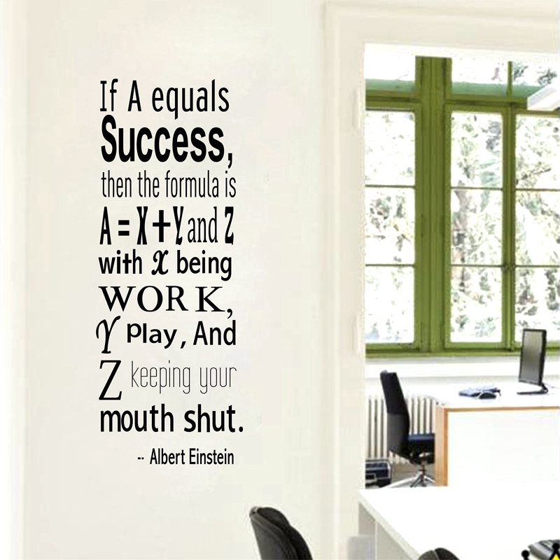 Einstein Success Quote Wall Decals Inspirational Wall
