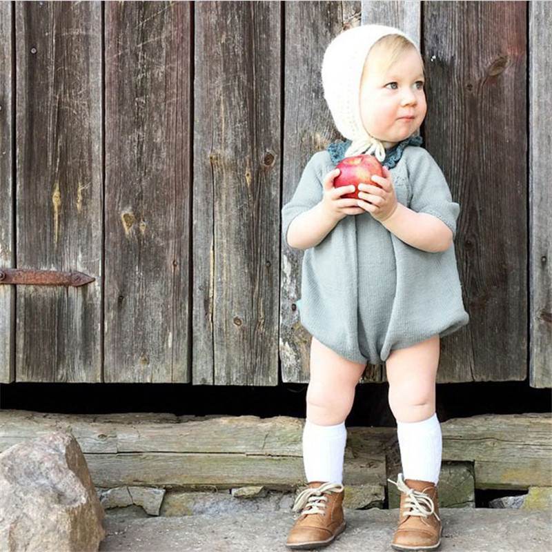 Baby Knit Rompers Boys Girls Children Autumn Spring Clothes Infant Long Sleeve Sweater Roupas New Born Baby Girls Rompers star romper spring autumn fashion newborn baby clothes infant boys girls rompers long sleeve coveralls roupas de bebe unisex