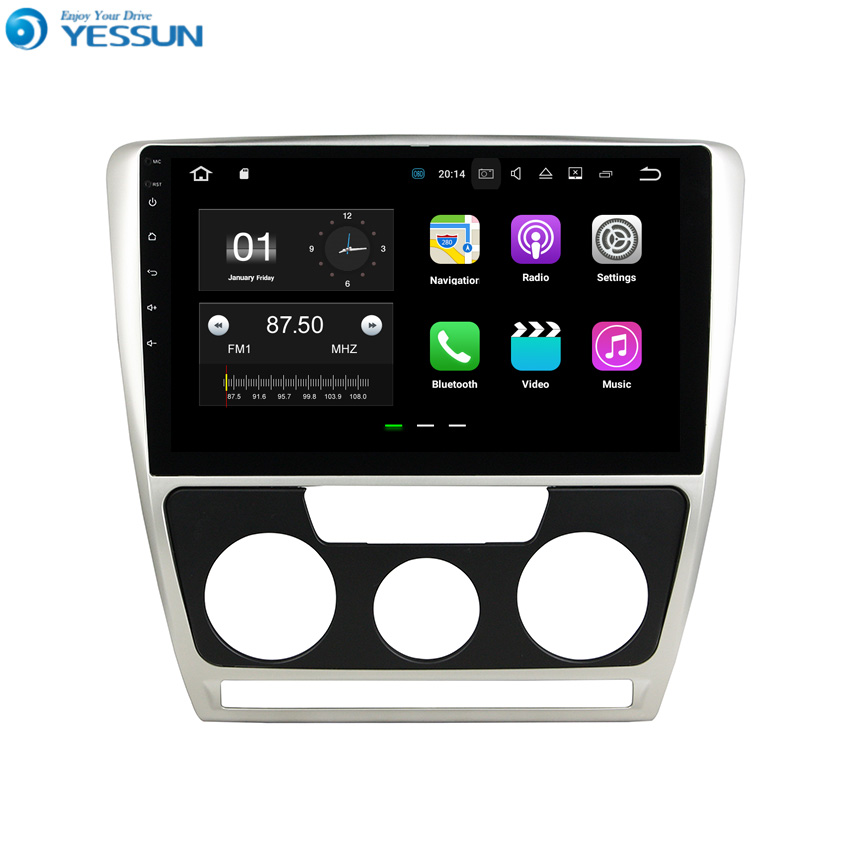 YESSUN For Skoda Octavia / Laura 2007~2009 Android Car Navigation GPS HD Touch Screen Audio Video Multimedia Player No CD DVD.