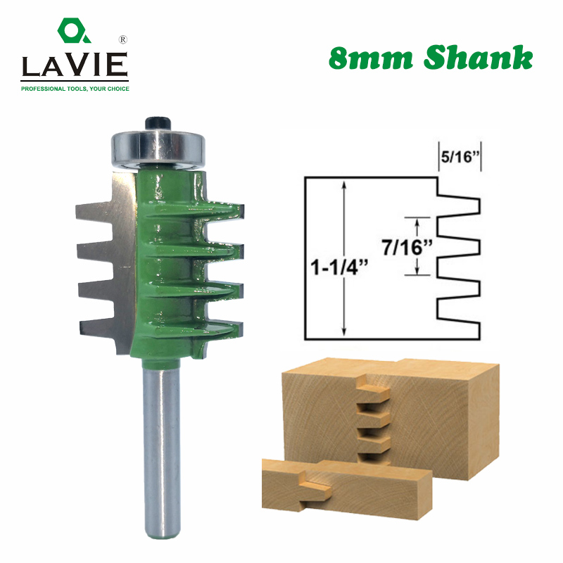 8mm Shank Router Bits Finger Joint Glue Milling Cutter For Wood Tenon Woodwork Cone Tenon Milling Tenoning Machine Tools MC02003