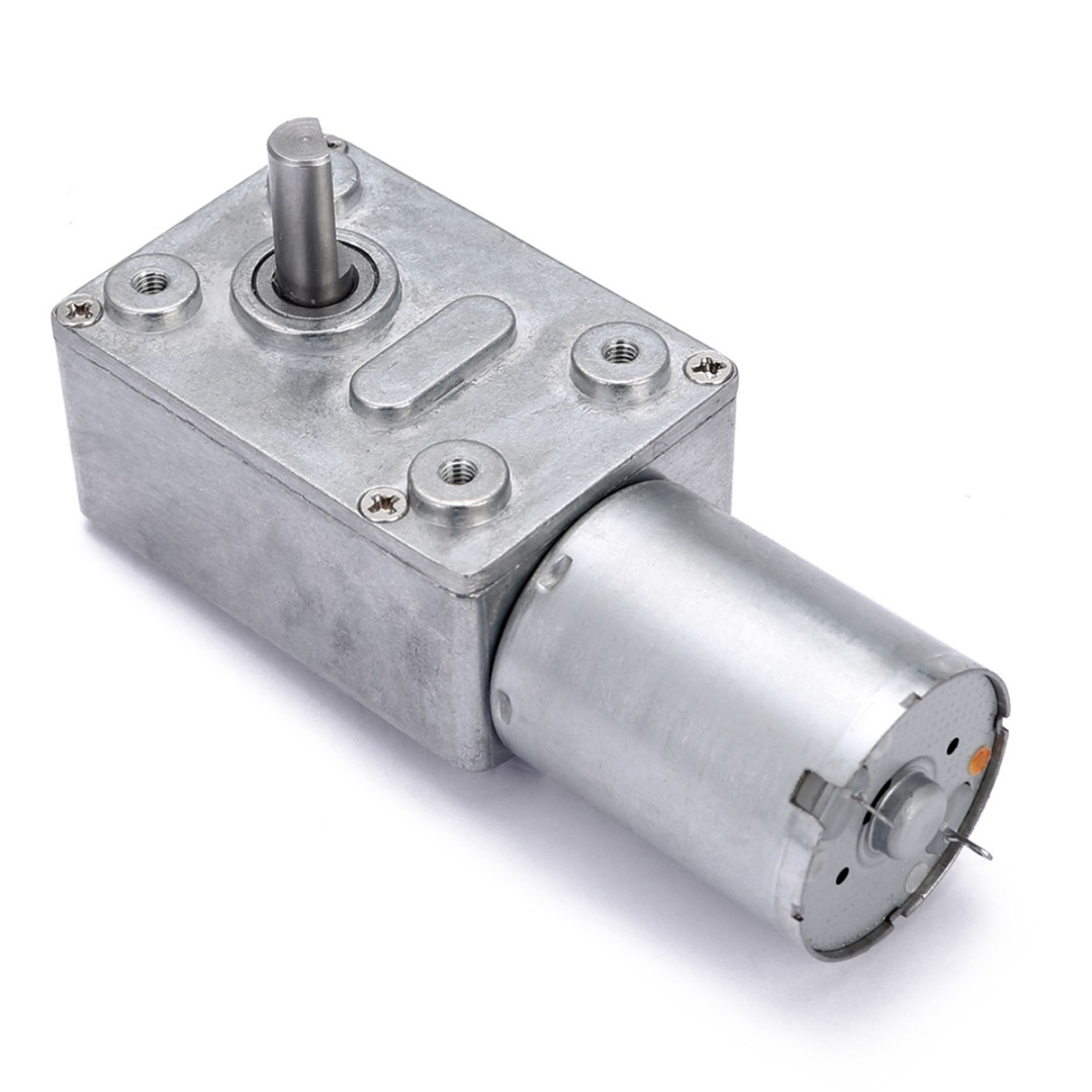 DC <font><b>12V</b></font> <font><b>0.6RPM</b></font> Gear <font><b>Motor</b></font> Metal High Torque Worm Electric Geared DC <font><b>Motor</b></font> GW370 Low Speed Mayitr image
