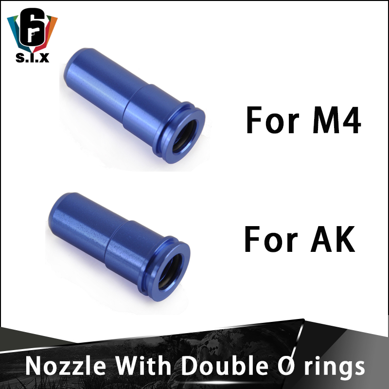 Tactical High Seal CNC Aluminum Double Single O-ring Air Nozzle For M4 AK Airsoft