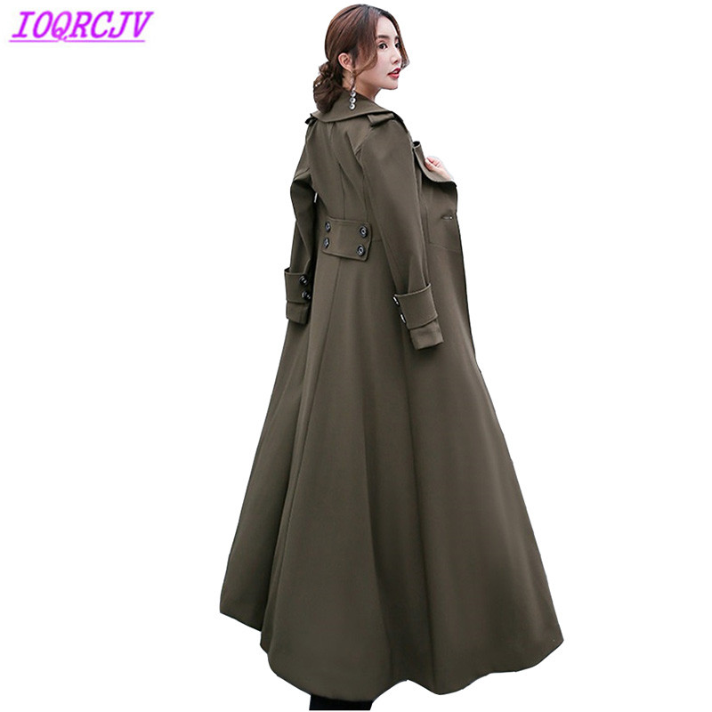 Trench   coat for women 2018 spring coat fashion long windbreaker autumn Plus size   trench   female Slim Lengthen coats IOQRCJV H264