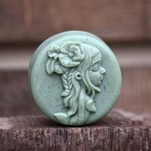 Nicole Mori Girl Silicone Soap Mold Round Natural Handmade Bath Bomb Chocolate Candy Mould
