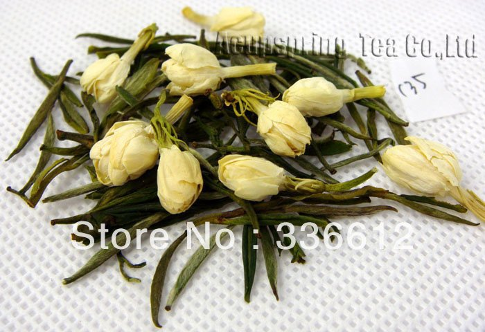 4oz/100g Jasmine Huoshan Huangya, Good Quality Green Tea,A3CLF03M, Free Shipping 4oz 110g jasmine pearl tea fragrance green tea a2clz01 free shipping
