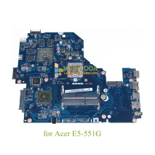 Laptop Motherboard For acer aspire E5-551G mainboard Z5WAK LA-B221P REV 1.0 NBMLE11003 NB.MLE11.003