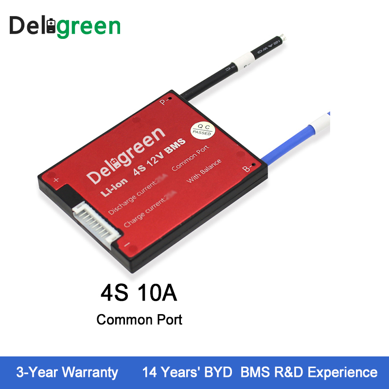Deligreen-4S-10A-12V-PCM-PCB-BMS-for-LiPO-LiNCM-lithium-battery-pack-18650-Lithion-Ion (4)