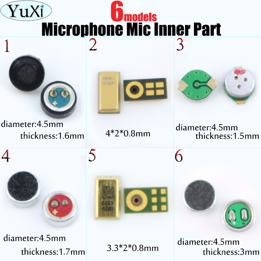 YuXi High Quality Microphone Internal Microphone Repair  For IPhone 7 Mic Inner Receiver Repair Part For Mobile Phone