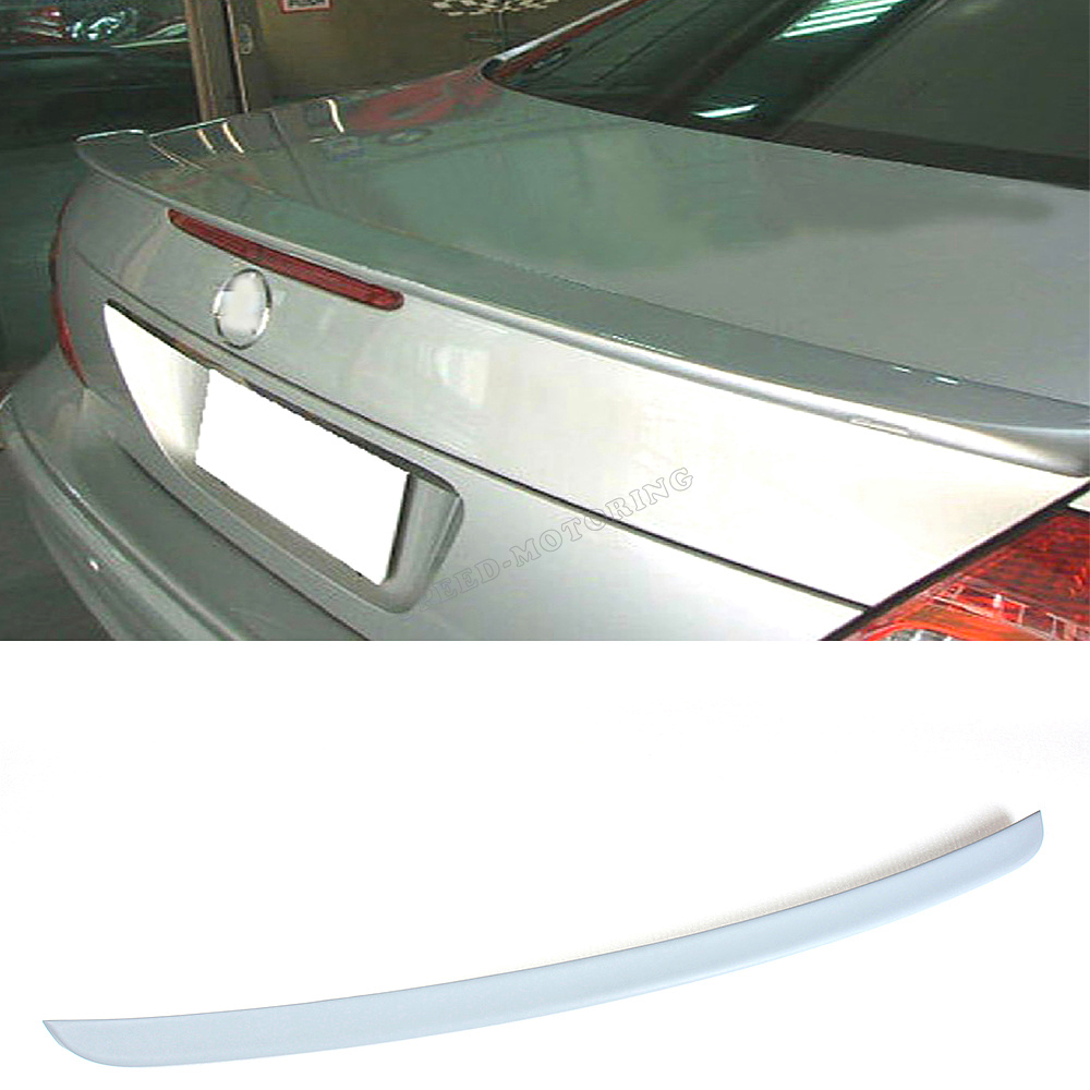 Unpainted PU trunk lip spoiler for Mercedes Benz W211 E550 E500 E350 E320 E63 AMG 2007 -2009  AMG STYLE mercedes carbon fiber trunk amg style spoiler fit for benz e class w207 2 door 2010 2015 coupe convertible vehicles