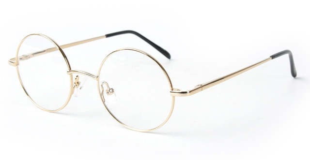 383e4b98536 42mm Size Retro Vintage Eyeglass Frame Glasses Harry Potter Style Round  Eyeglass Frames Black Gold Silver