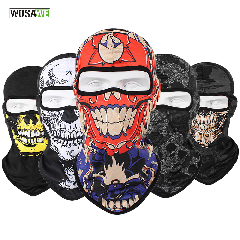 WOSAWE 3D Skull Balaclava Cycling Full Face Mask Hats Helmet…