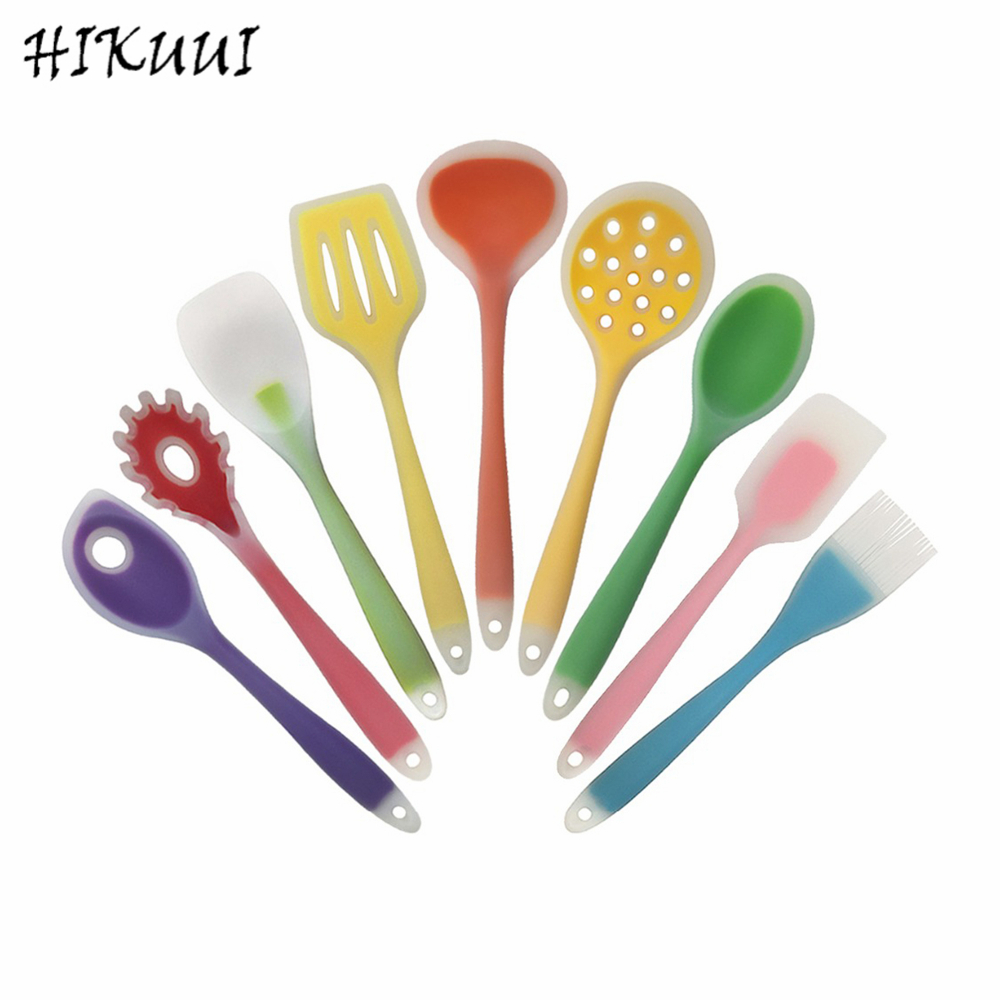 Retail 1pc Cookware Nylon And Food Grade Silicone Kitchen Cooking Tools Spatula