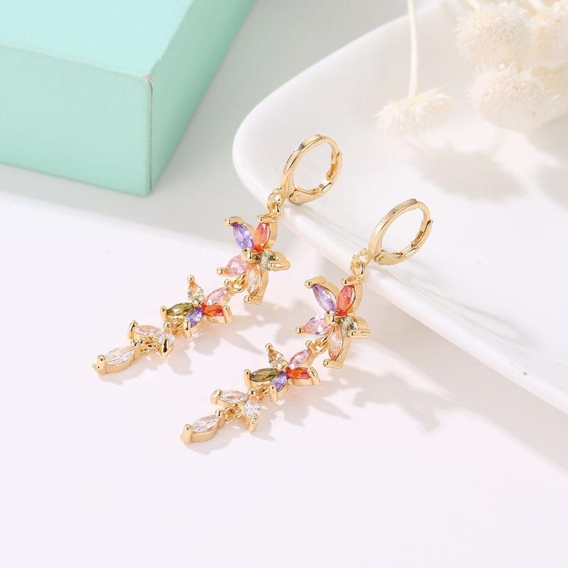 6 mm Rond Diamant 18K Rose Gold Filled Women Lady mariage Boucles d/'oreille Boîte Cadeau