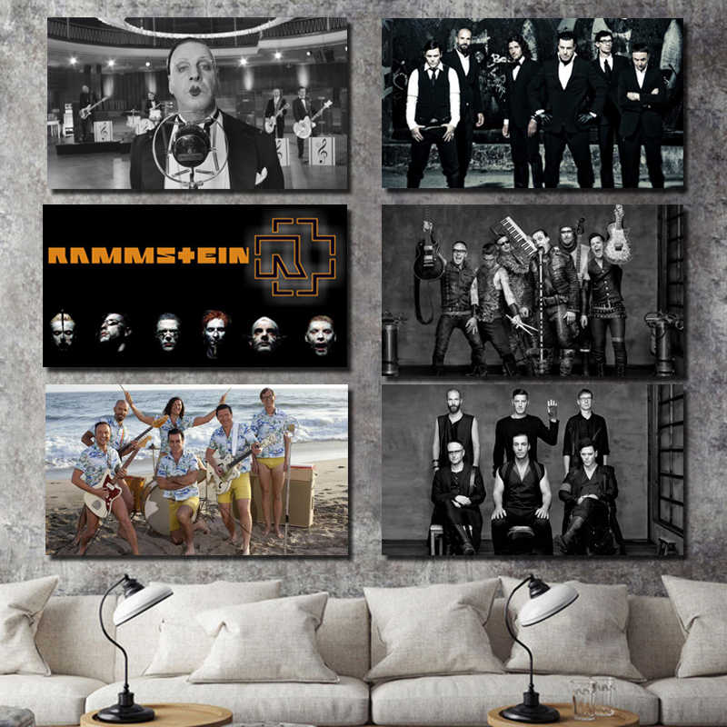 Rammstein Perfect Background Wallpaper Canvas Painting Living Room Home Decoration Modern Wall Art Oil Painting Posters Pictures