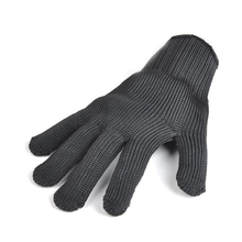 2pairs Black stainless steel wire resistace Gloves Camp Outdoor Anti-cutting breathable work gloves Safety Anti-abrasion gloves