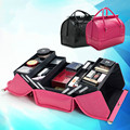Las mujeres de Maquillaje Organizador Tablilla de Múltiples Capas de Gran Capacidad Profesional Bolsa de Cosméticos Caja De Almacenamiento Caja de Herramientas Maleta Bolso Mujer