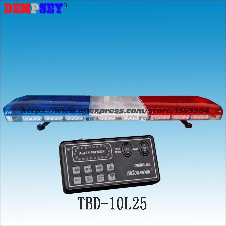 TBD-10L25 <font><b>LED</b></font> <font><b>Lightbar</b></font>, waterproof, for ambulance/fire truck/<font><b>police</b></font>/ vehicle ,18 flash patterns,
