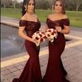 New Arrival 2016 Navy Red Mermaid Bridesmaid Dress Boat Neck Cap Sleeve Sequin Satin Bridesmaid dresses Vestidos de madrinha