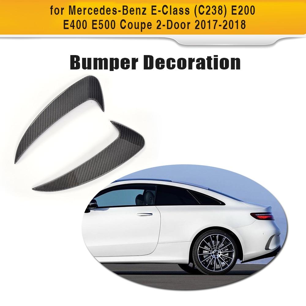 E Class Carbon fiber Rear Bumper Side Trunk Decoration Vent Wings for Mercedes Benz C238 Coupe 2 Door 2017 2018 E200 E400 E500 цена