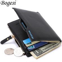 2015 neue Leder Marke herren Geldbörse Multifunktionale Kurz Design Männer Brieftasche Reißverschluss Geldbörse Kartenhalter